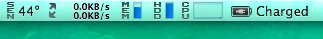 CPUの温度44℃