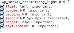 Social bookmarking light source css