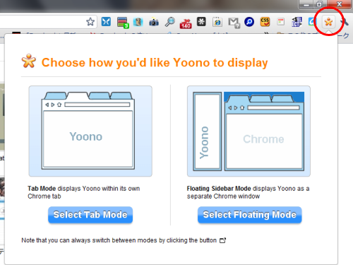 Google Chromeの拡張機能「Yoono」でChromeをソーシャル化